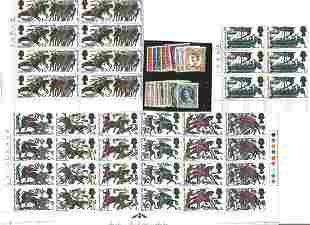 GB mint stamps, Includes 1966 Hastings (Phos) set in