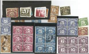 GB mint stamps, Includes 1959 GB Postage Dues crown
