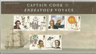 GB mint stamps Presentation Pack no 559 Captain Cook