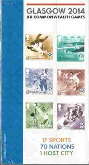 GB mint stamps Presentation Pack no 500 Glasgow 2014 XX