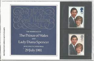 GB mint stamps Presentation Pack no 127a The Royal
