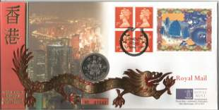 GB Coin FDC PNC with Stamps and FDI Postmark &