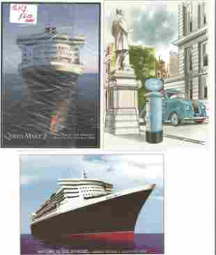 2 x Queen Mary 2 Postcards from her Maiden Voyage by