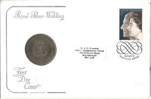 GB Cotswold Covers Coin FDC PNC 1947 Commemorative