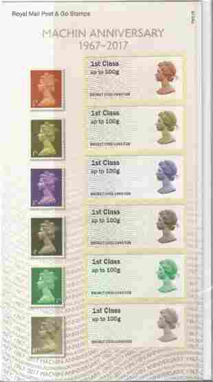 6 x Royal Mail 1st Post & Go Labels with original