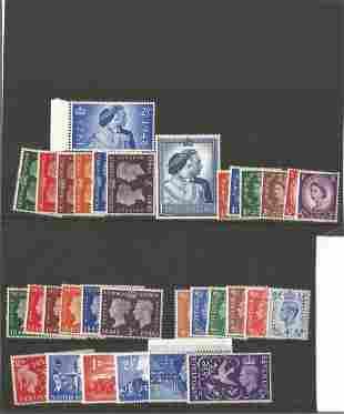 GB mint Stamps George VI & Elizabeth II Includes George
