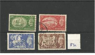 GB Used Stamps George VI Set of 4 Pictorial Stamps