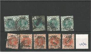 GB Used Stamps Queen Victoria 5 x 1896 Definitives with