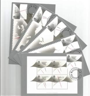 Royal Mail 10 PHQ Cards 2 x Millennium Timekeeper (PSM