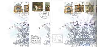 7 x British Post Office Exhibition Cards, Includes 2 x