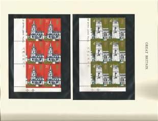 GB Mint Stamps Churches & BBC 50th Anniversary, 9 x