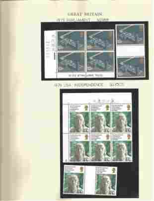 GB Mint Stamps Parliament, USA Independence, British