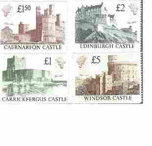 GB Mint Stamps £9+ face value Castles High Value, set