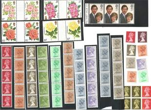GB Mint Stamps £17+ face value Definitives, Social