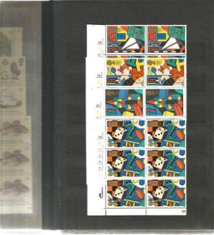 GB Mint Stamps £148+ face value Stamp Album with 12