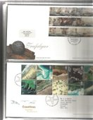 80+ FDC with Stamps and various FDI Postmarks, housed