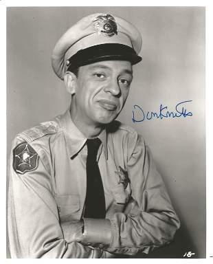 Don Knotts signed 10x8 black and white photo. Good