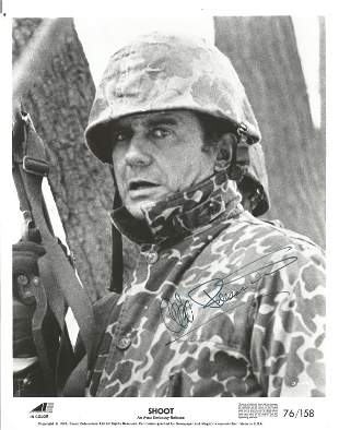 Cliff Robertson signed 10x8 black and white Shoot promo