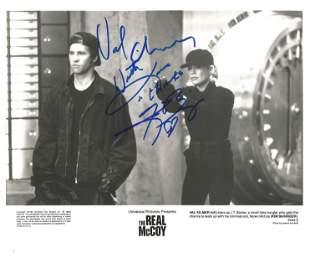 Kim Basinger and Val Kilmer signed 10x8 black and white