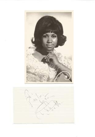 Aretha Franklin 12x8 signature piece includes fantastic