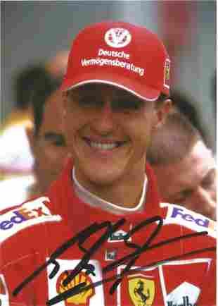 Michael Schumacher 7x5 signed colour photo. Good