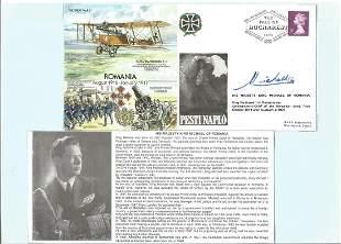 King Michael of Romania signed Great War 31 FDC Romania