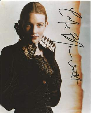 Cate Blanchett signed 10 x 8 inch colour photo. Good