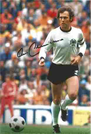 Football World Cup Franz Beckenbauer signed 12 x 8 inch