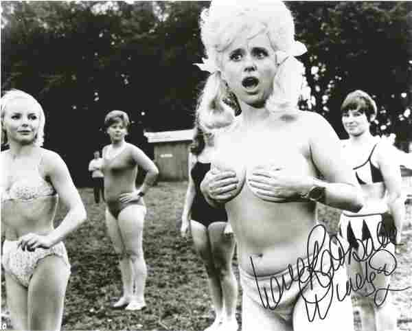 Carry on Barbara Windsor signed amusing boob cover