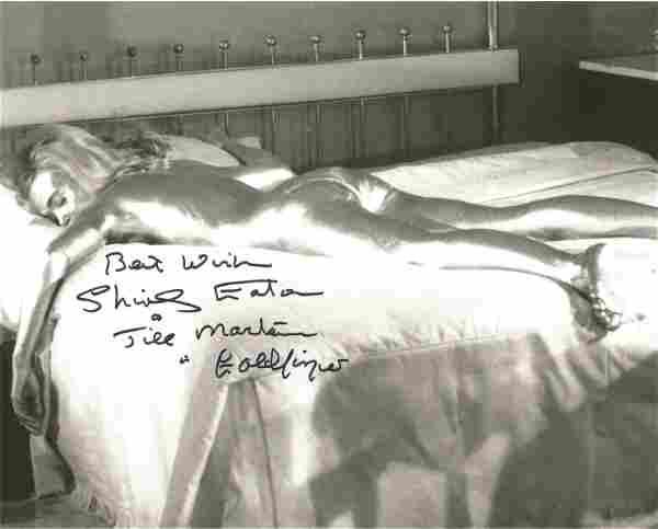 James Bond Shirley Eaton signed 10 x 8 inch b/w photo