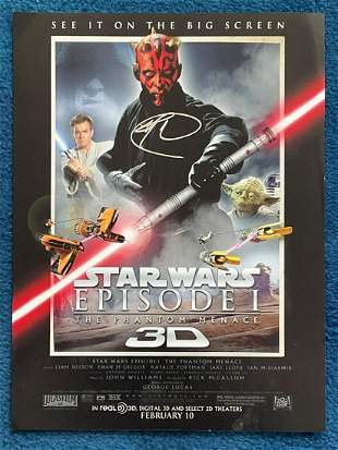 Star Wars Ray Park as Darth Maul signed 16 x 20 colour