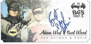 Batman Adam West and Burt Ward signed Bat Wishes