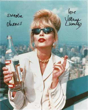 Ab Fab Joanna Lumley signed 10 x 8 inch colour photo as