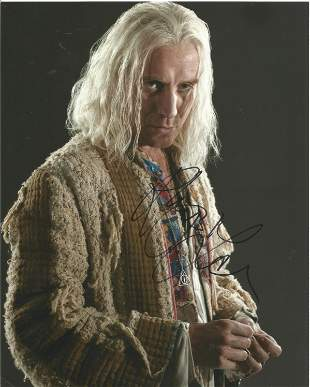 Harry Potter Rhys Ifans signed 10 x 8 inch colour photo