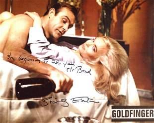 007 Bond girl Shirley Eaton signed 8x10 Goldfinger