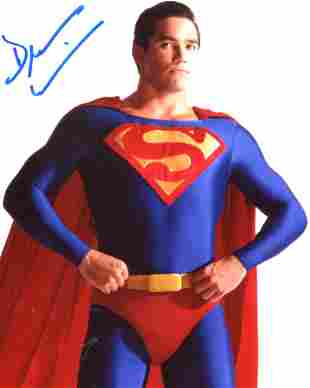 Superman TV series photo signed by actor Dean Cain.