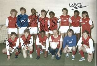 Football Autographed Arsenal 12 X 8 Photo Col,