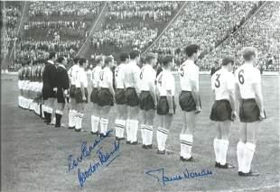 Football Autographed England 12 X 8 Photo B/W,