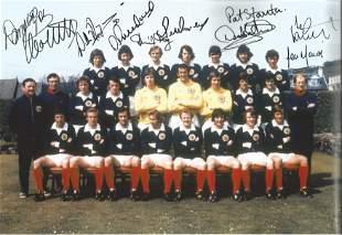 Football Autographed Scotland 12 X 8 Photo Col,