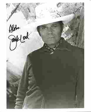 Jack Lord (1920 1998) Hawaii Five O Actor Signed 8x10