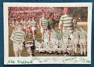 Celtic 1967 Lisbon Lions Montage 12x16 Photo Signed By