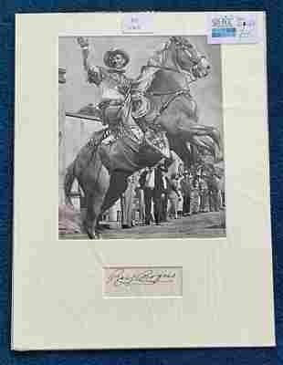 Roy Rogers 16x12 mounted signature piece includes