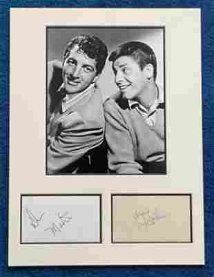 Dean Martin and Jerry Lewis 16x12 mounted signature