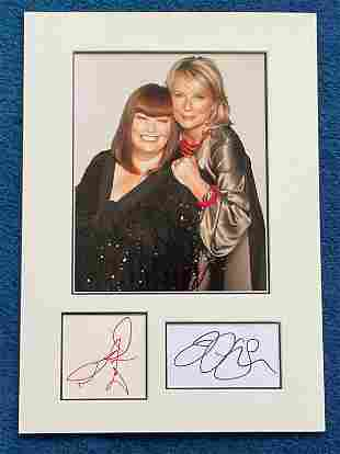 Dawn French and Jenifer Saunders 16x12 mounted