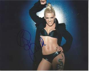 Pink signed 10x8 colour photo. Good Condition. All