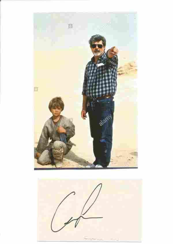 George Lucas signature piece includes signed album page