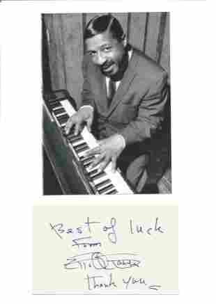 Errol Garner signature piece includes signed album page