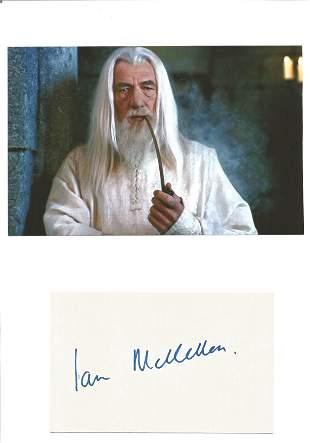 Ian McKellen signature piece includes signed album page