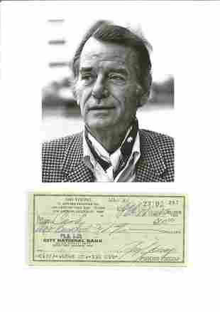 Gig Young signed City National Cheque dated 18th Feb