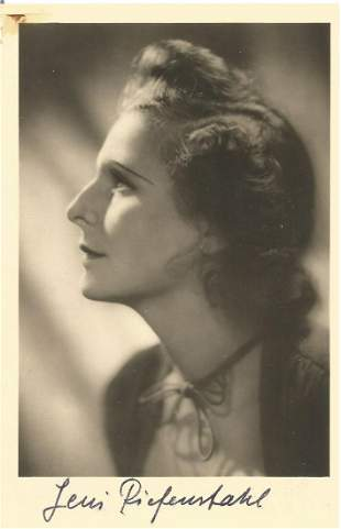 Leni Riefenstahl signed 6x4 vintage sepia photo. Helene